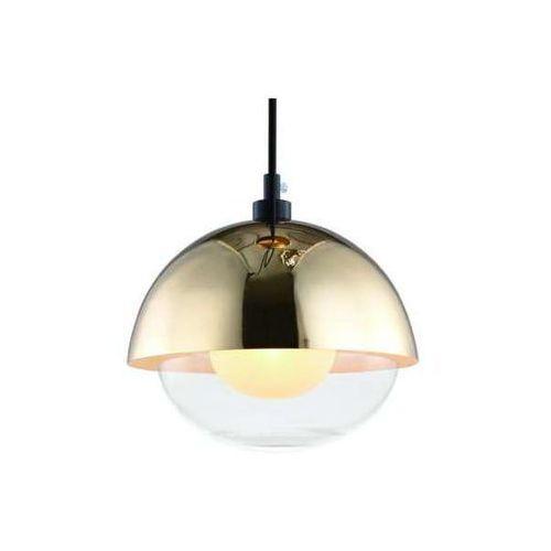 Orlicki design Lampa loftowa viso gold wisząca oprawa szklany zwis kopuła złota przezroczysta (1000000593716)