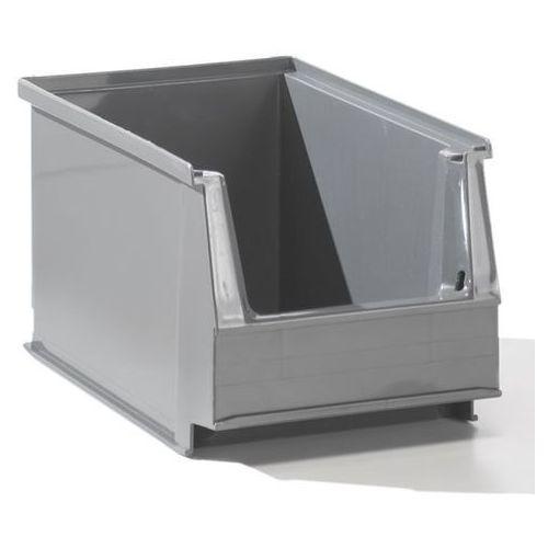 Lockweiler plastic werke Przejrzysty pojemnik magazynowy z recyrkulowanego pe, poj. 2,6 l, szary, opak. 5