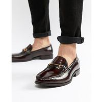Ben Sherman Luca Loafers In Bordo Leather - Red