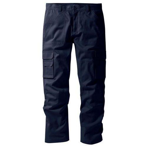 """Spodnie """"bojówki"""" z powłoką z teflonu Regular Fit Straight bonprix ciemnoniebieski, bojówki"""