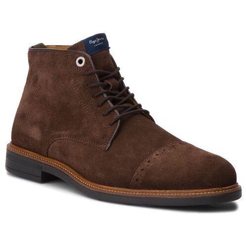 Trzewiki - axel boot pms50169 dk brown 898 marki Pepe jeans