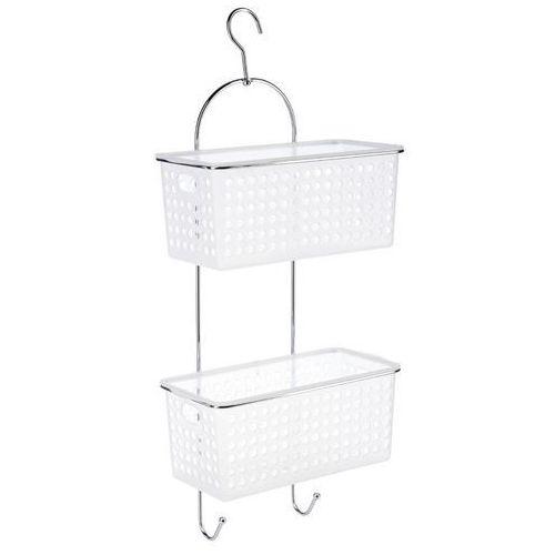 Instant d'o Półka łazienkowa, regał pod prysznic, 2 poziomy - kolor biało-transparentny (3560238495780)