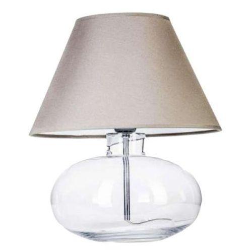 4concepts Lampa stołowa lampka bergen 1x60w e27 biały abażur l007071111 (5901688142141)