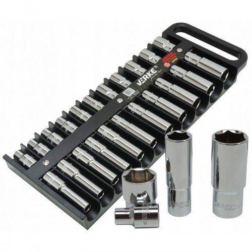 Zestaw nasadek krótkich i długich 1/2″ 10-24mm premium line marki Verke