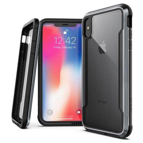 X-Doria Defense Shield Etui Aluminiowe iPhone Xs / X (Black), kolor czarny