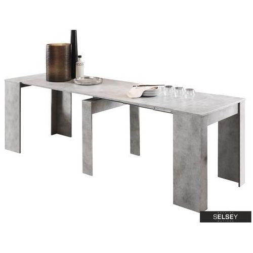 SELSEY Stół rozkładany Dadivosa 54-252x79 cm beton (5903025426747)