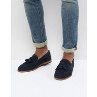 alloa suede loafers in navy - navy, H by hudson