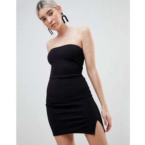 Boohoo Bandeau Mini Dress - Black, kolor czarny