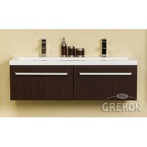 Szafka łazienkowa z umywalką 120/39/2 seria fokus wenge mat marki Gante