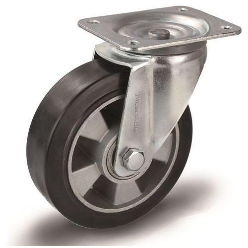 Elastyczne ogumienie pełne, czarne, Ø kółka x szer. 100x40 mm, rolka skrętna. na marki Proroll