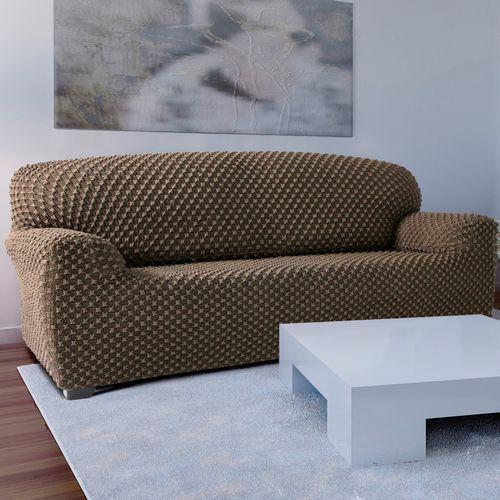 4home Forbyt pokrowiec multielastyczny na kanapę contra beżowy, 140 - 180 cm