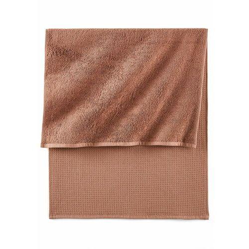 Ręczniki o waflowej strukturze bonprix czekoladowy