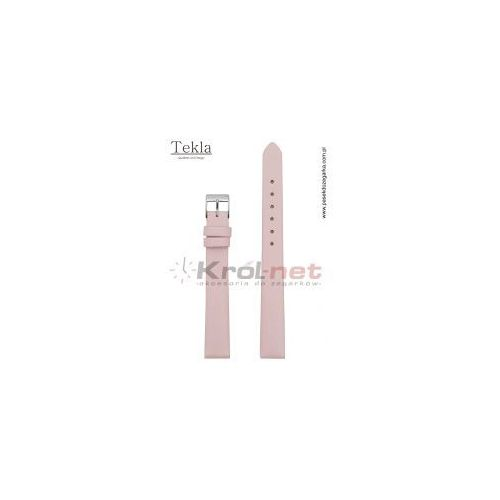 Pasek do zegarka TK126ROZ/12 - gładki, różowy, TK126ROZ/12