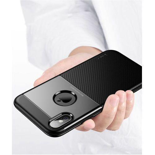 Ipaky shield gumowe wytrzymałe etui iphone xs max brązowy (6933345211418)