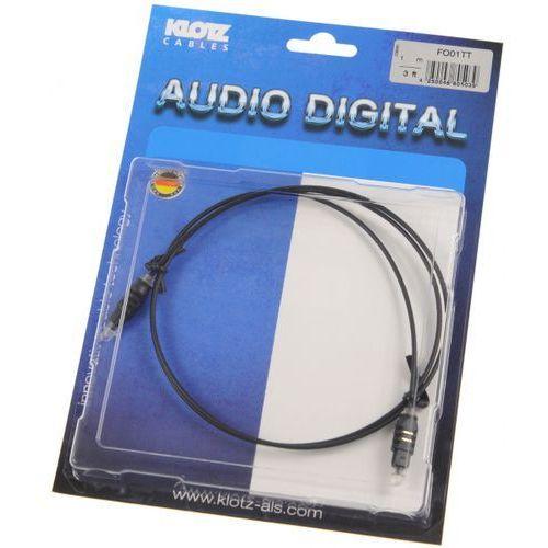 Klotz FO 01TT 1m toslink/toslink kabel