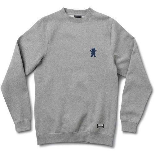 bluza GRIZZLY - Og Bear Embroidered Crewneck Heather Grey (HTHR) rozmiar: XL, 1 rozmiar