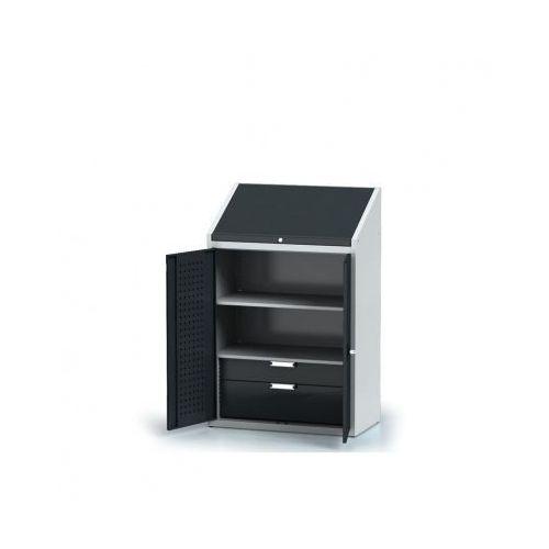 Szafa warsztatowa z nadstawką - 2 półki, 2 szuflady marki Alfa 3