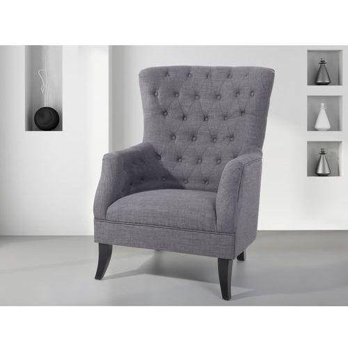 Fotel tapicerowany ciemnoszary - krzesło - VIBORG (7081451668837)