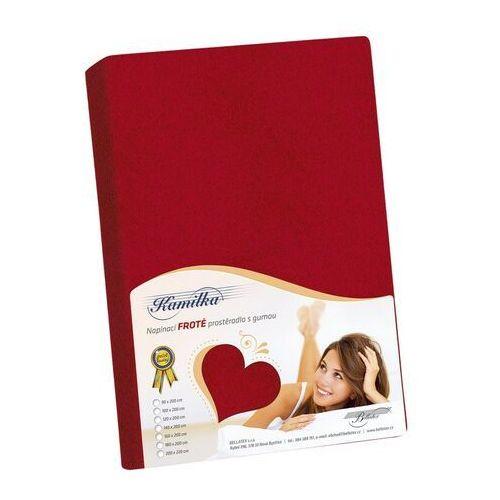 Prześcieradło frotte Kamilka czerwony, 120 x 200 cm, 120 x 200 cm, 229061
