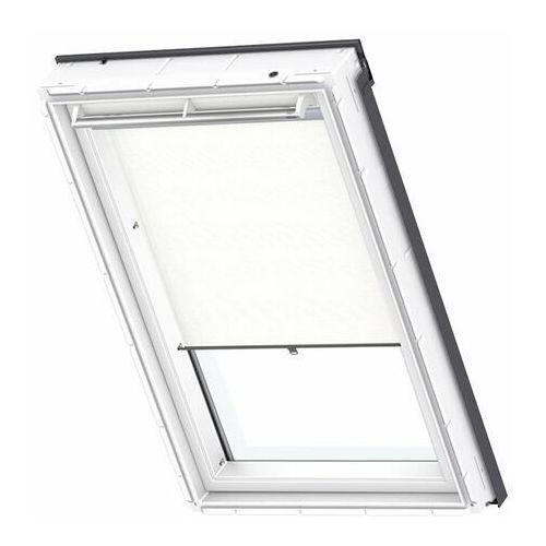 Roleta na okno dachowe dekoracyjna standard rhl sk08 114x140 na haczykach biała marki Velux