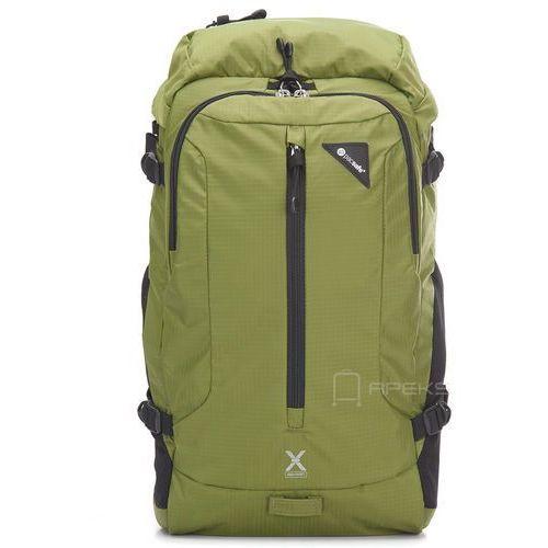 Pacsafe Venturesafe X22 plecak antykradzieżowy na laptopa 13'' / Black - Olive Green, kolor zielony