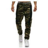 Spodnie męskie dresowe joggery multikolor Denley 3775C, kolor wielokolorowy