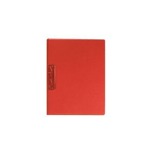 Segregator z dźwignią A4 1,8 cm transparentny czerwony Biurfol