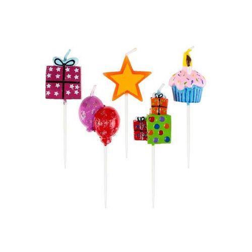 """Świeczki na tort """"Urodziny"""", GODAN, 5 szt (5901238689775)"""