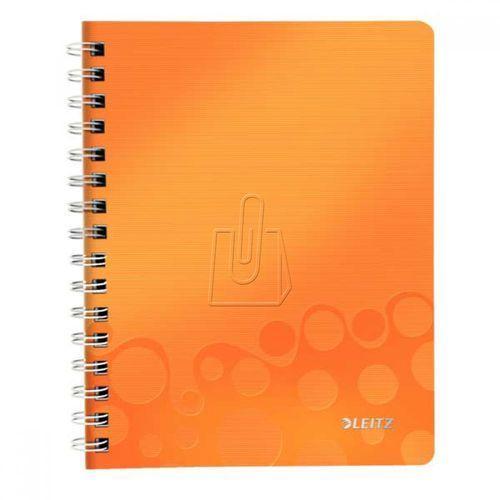 Leitz Kołonotatnik wow pp a5 80 kratka pomarańczowy 46410044 (4002432107834)