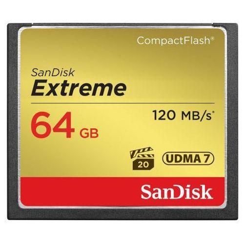 Karta pamięci compact flash extreme 64gb (cf) 120mb/s 800x marki Sandisk