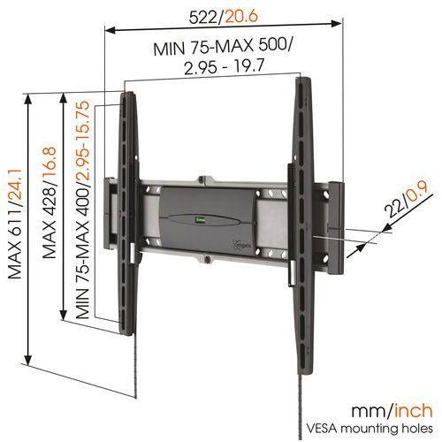 """Uchwyt ścienny do TV, LCD Vogel´s EFW 8206, Maksymalny udźwig: 30 kg, 81,3 cm (32"""") - 139,7 cm (55"""")"""