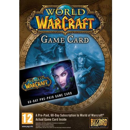 Blizzard entertainment World of warcraft eu 60 days time card