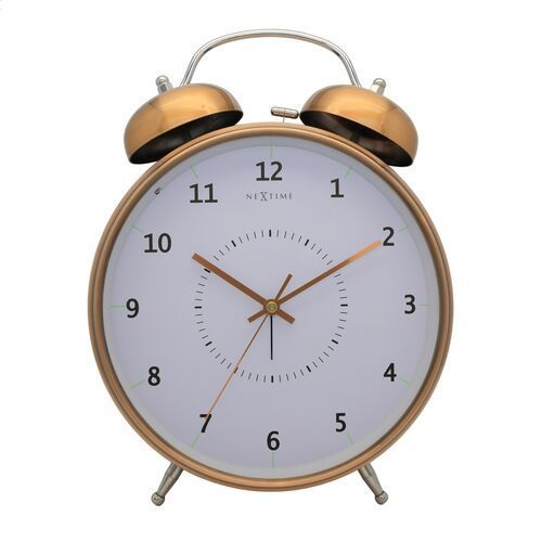 Budzik Nextime Wake Up 20 cm copper