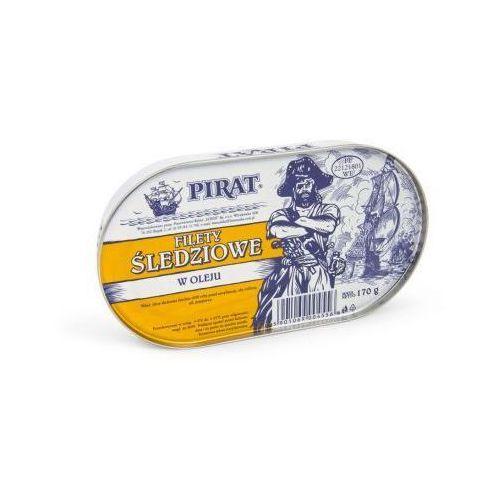 Łosoś Filety śledziowe w oleju 170 g pirat (5901069004556)