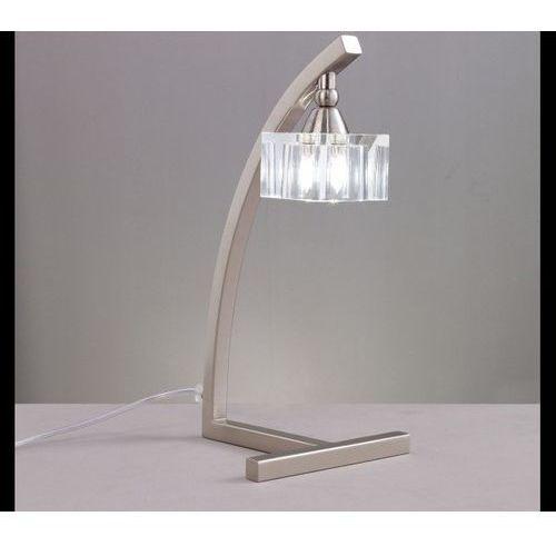 Mantra Lampa biurkowa cuadrax 1l nikiel satynowy i szkło optyczne, 1114