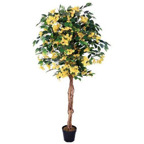Greentree Sztuczne drzewo drzewko bugenwilla żółta 160 cm