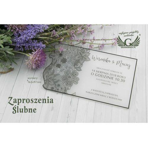 Zaproszenia ślubne z akrylu - cyfrowy druk uv - zap035 marki Grawernia.pl - grawerowanie i wycinanie laserem
