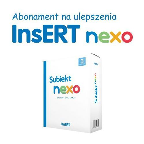 Insert spółka akcyjna Abonament subiekt nexo