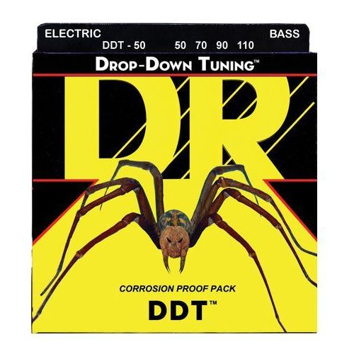 Dr drop-down tuning - struny do gitary basowej, 4-string, heavy,.050-.110