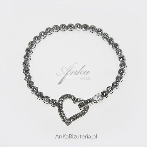 Anka biżuteria Bransoletka srebrna z markazytami - trafiony pomysł na prezent dla dziewczyny
