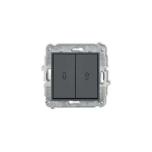 Przycisk żaluzjowy mini 28mwp-8 grafitowy mat marki Karlik