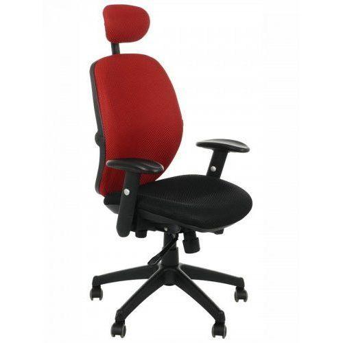 Fotel biurowy obrotowy kb-912/a/czerwony - krzesło obrotowe biurowe marki Stema - kb