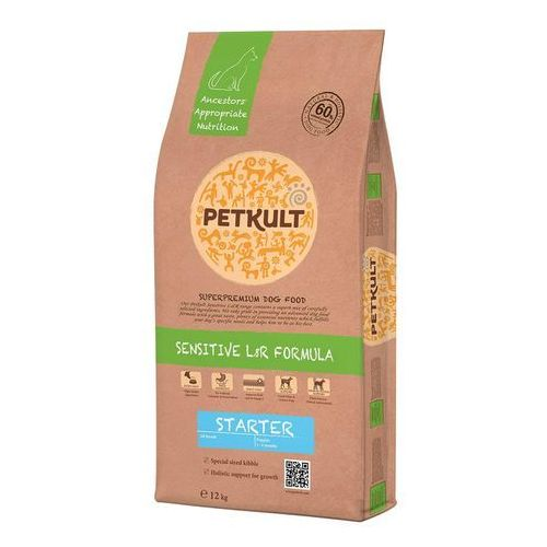 Petkult dog starter lamb/rice - 12kg