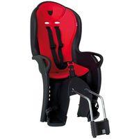 Fotelik rowerowy kiss czarny, czerwona wyściółka marki Hamax