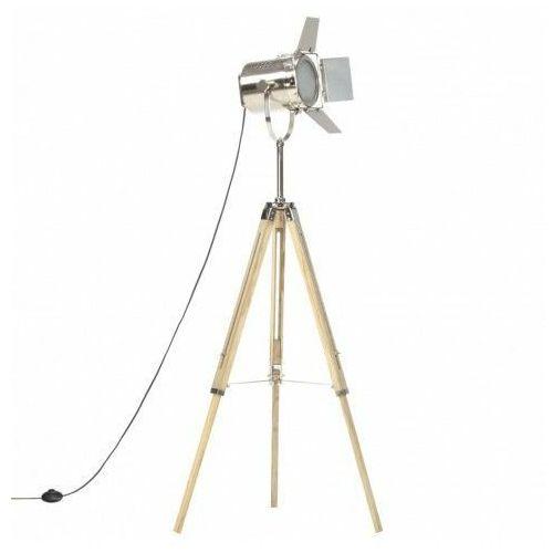 Drewniana lampa podłogowa vintage na statywie - EX196-Savita, vidaxl_286116