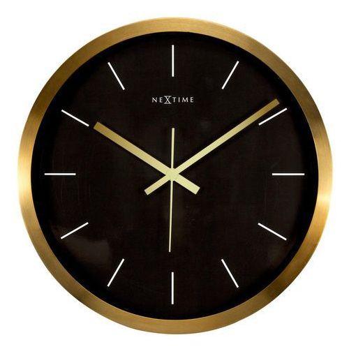Zegar ścienny Stripe czarny, kolor czarny