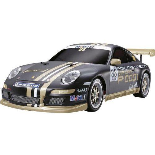 Model samochodu rc  porsche 911 gt3 cup vip 2007, 1:10, elektryczny, 465 mm, 1140 g, do samodzielnego złożenia marki Tamiya