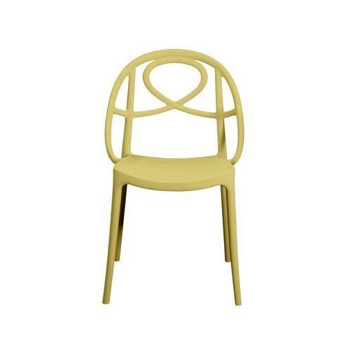 Krzesło ogrodowe etoile żółte marki Green