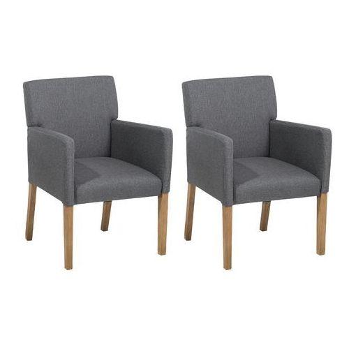 Beliani Zestaw do jadalni ciemnoszary 2 krzesła rockefeller (4260602379041)