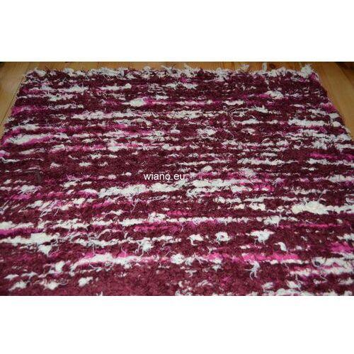 Spółdzielnia twórców ludowych Chodnik bawełniany ręcznie tkany bordowo-różowo-ecru 65x120 (k-23)